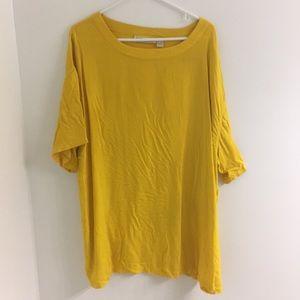 Yellow oversized tshirt/tshirt dress